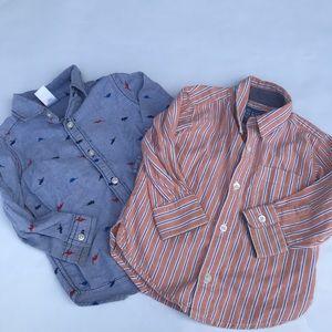 Set of Toddler Boy Button Up Shirts